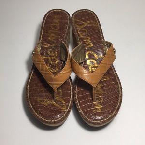 Sam Edelman Romy Cork Wedge Heel Sandal Size 9